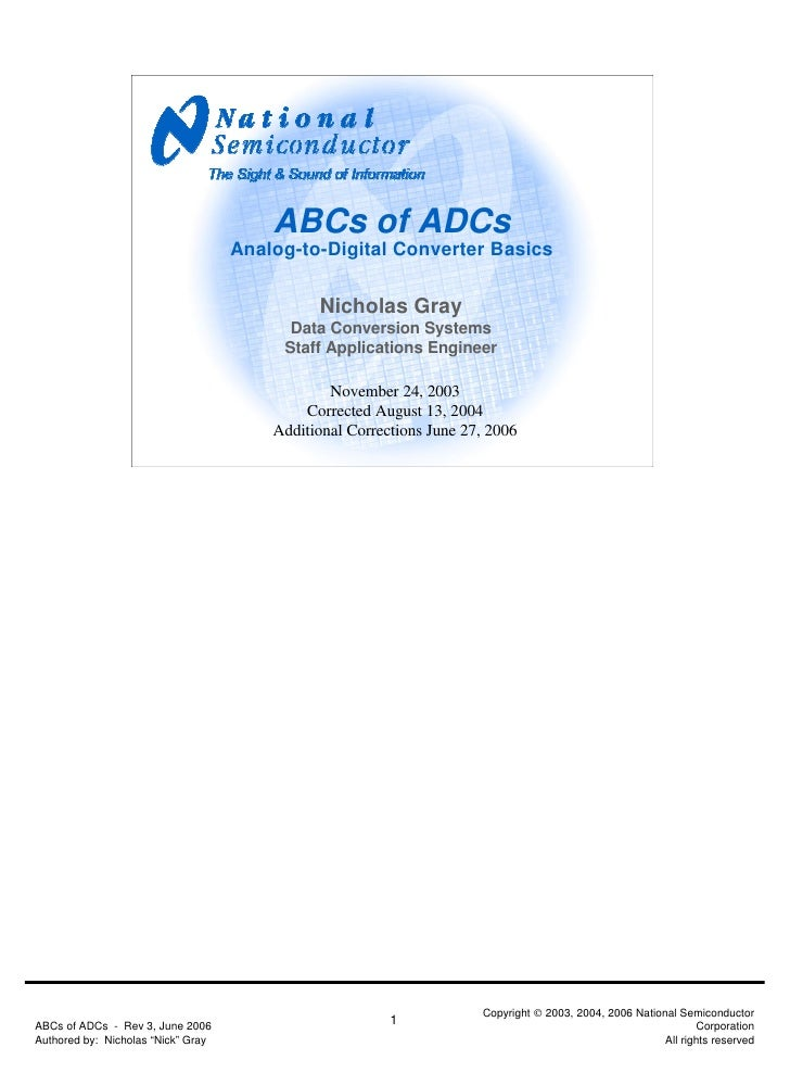 ABCs of ADCs                                    Analog-to-Digital Converter Basics                                        ...