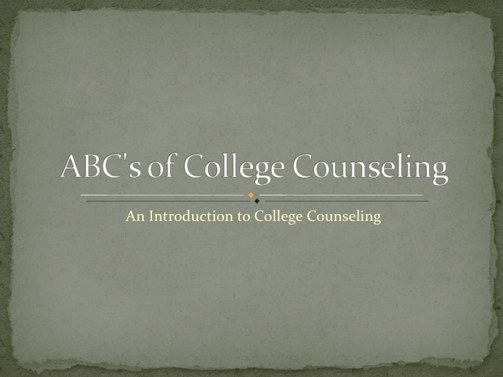 An Introduction to College Counseling