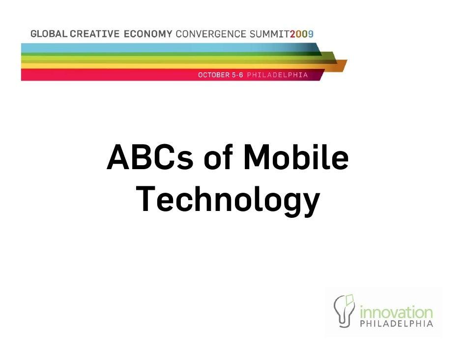 Ab Cs Of Mobile Technology