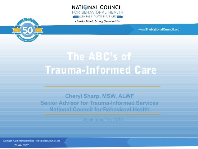 Contact: Communications@TheNationalCouncil.org 202.684.7457 www.TheNationalCouncil.org Cheryl Sharp, MSW, ALWF Senior Advi...