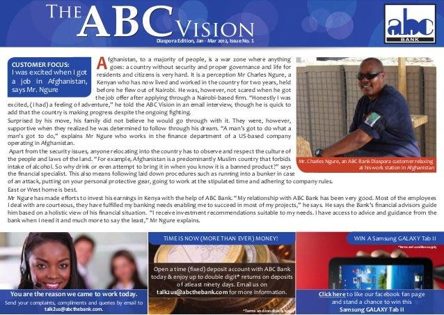 ABC Vision Diaspora Edition Issue No.1