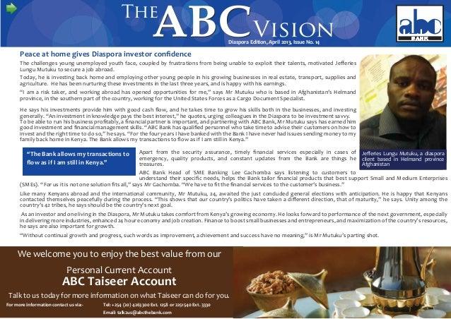 ABC Vision Diaspora Edition April 2013