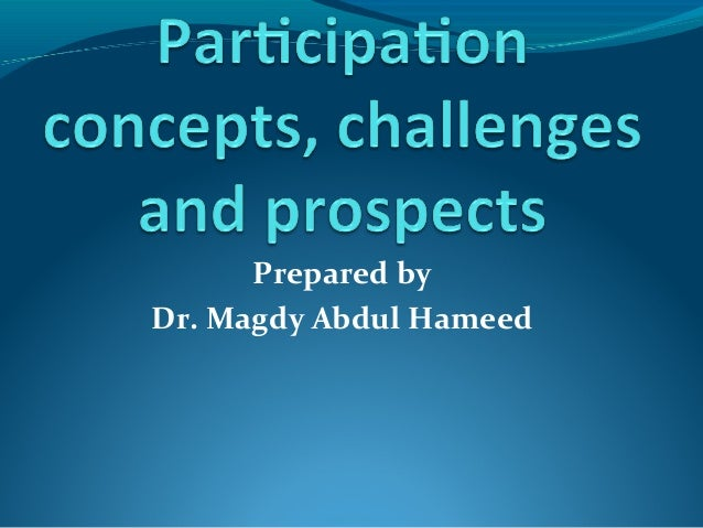 AbdelHamid on Participation in Transition