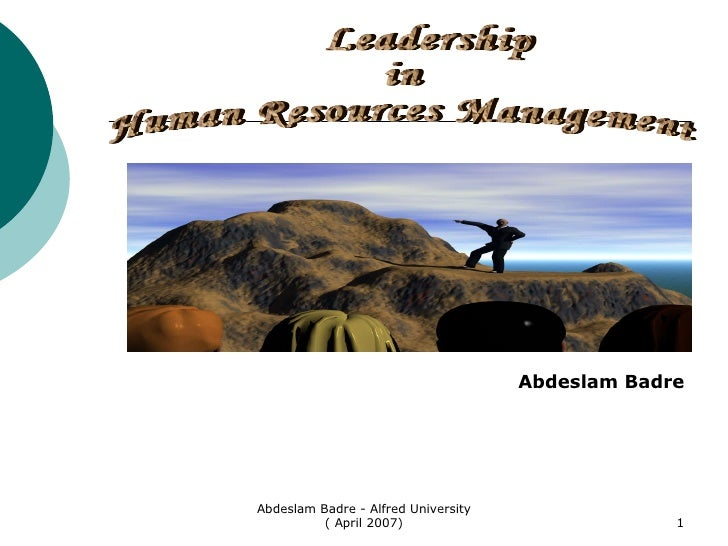 Abdeslam Badre On Human Resources Managment