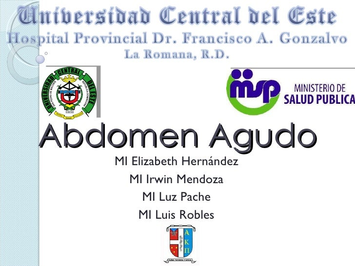 Abdomen Agudo MI Elizabeth Hernández MI Irwin Mendoza MI Luz Pache MI Luis Robles