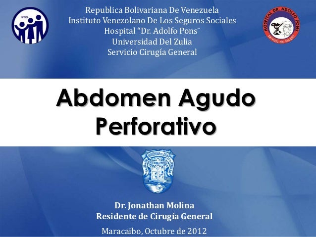"Republica Bolivariana De VenezuelaInstituto Venezolano De Los Seguros Sociales          Hospital ""Dr. Adolfo Pons¨        ..."