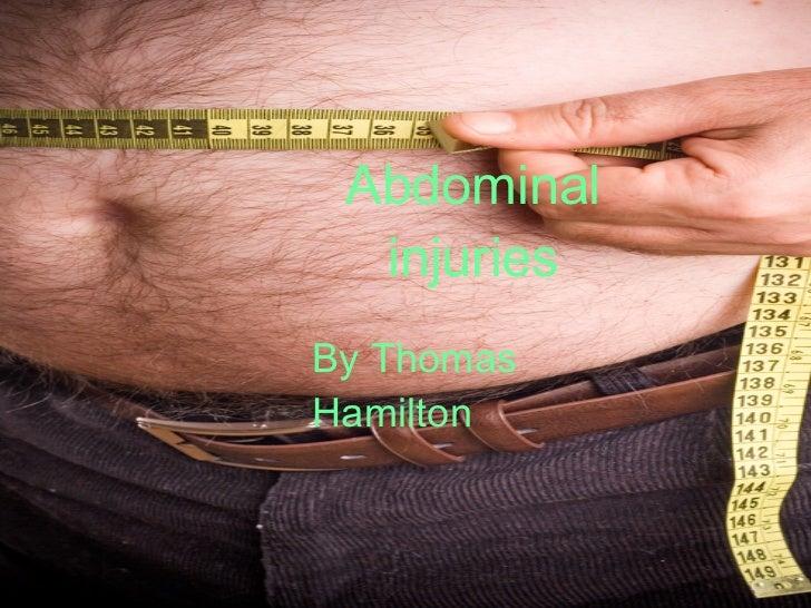 Abdominal injuries By Thomas Hamilton