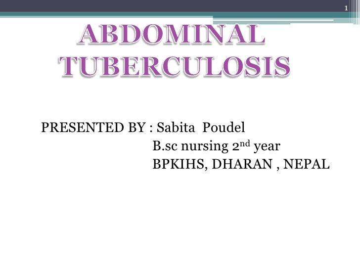 1PRESENTED BY : Sabita Poudel              B.sc nursing 2nd year              BPKIHS, DHARAN , NEPAL