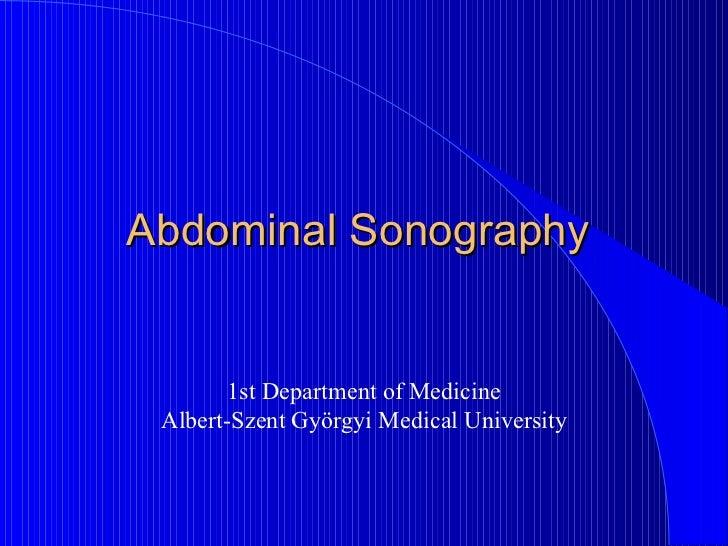 Abdominal Sonography
