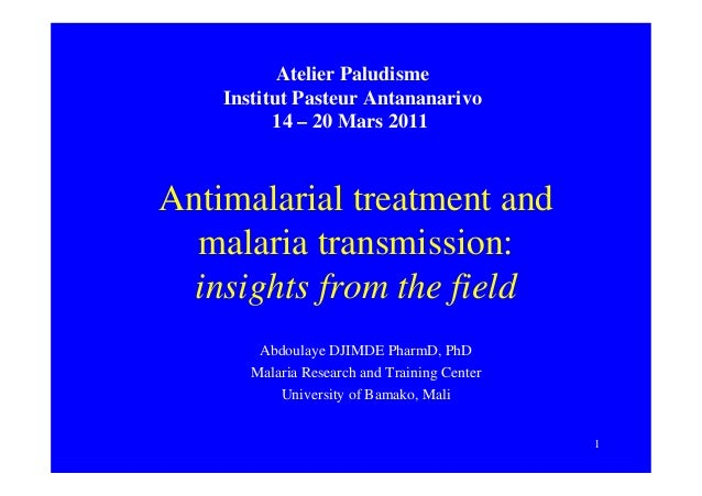 Antimalarial treatment and malaria transmission: insights from the field
