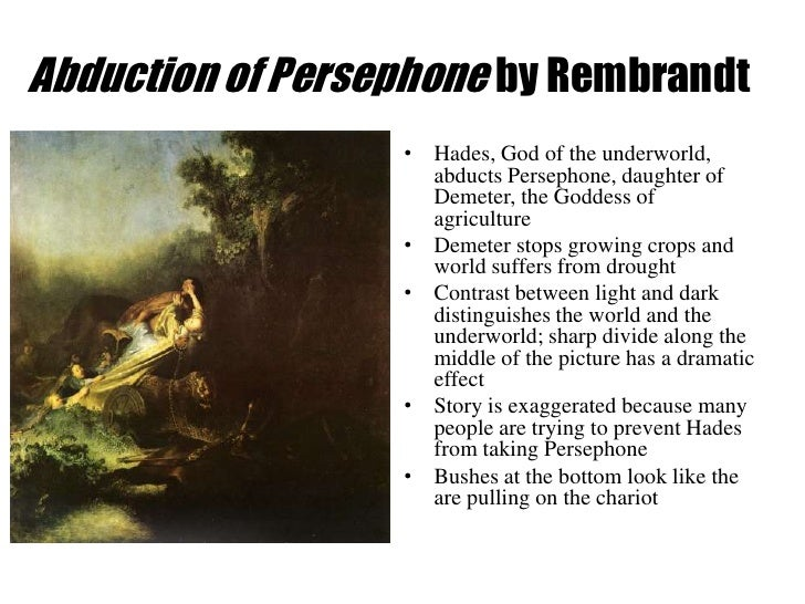 Abduction of persephone by rembrandt