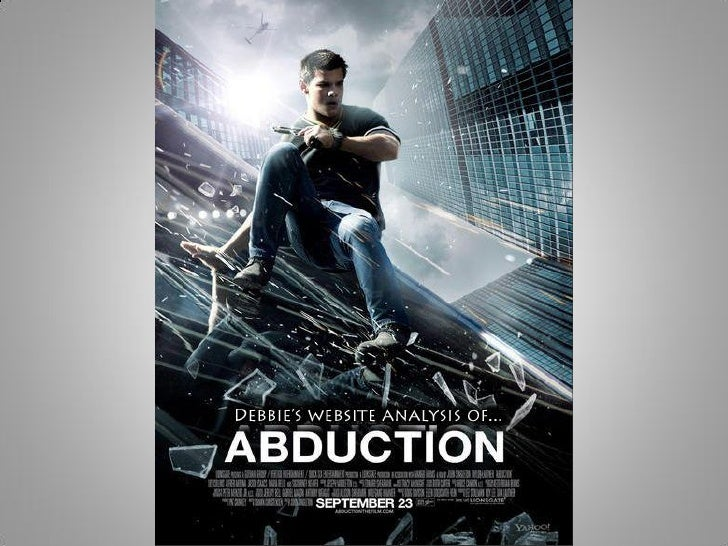 When you first enter the website for the film 'Abduction' you are met with the filmtitle and date initially in a white fon...