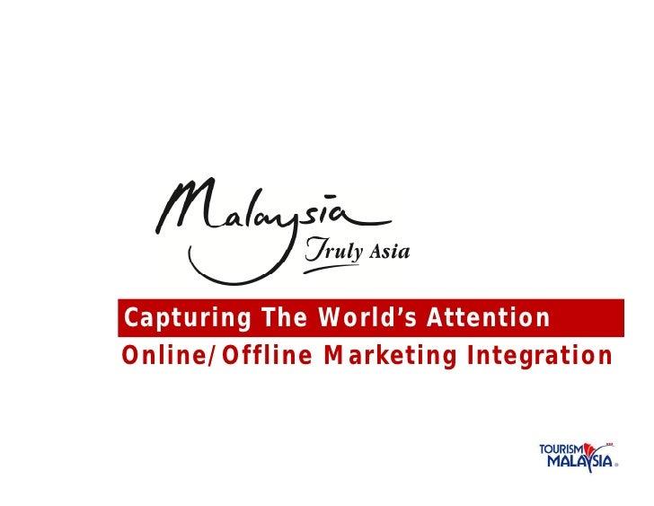 Capturing The World's Attentio nOnline/Offline Marketing Integratio n