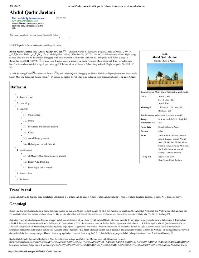 abdul qadir jaelani wikipedia bahasa indonesia