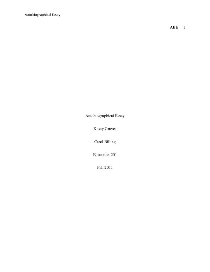 How to Start of My Autobiography Essay?