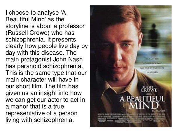Essay a beautiful mind paranoid schizophrenia
