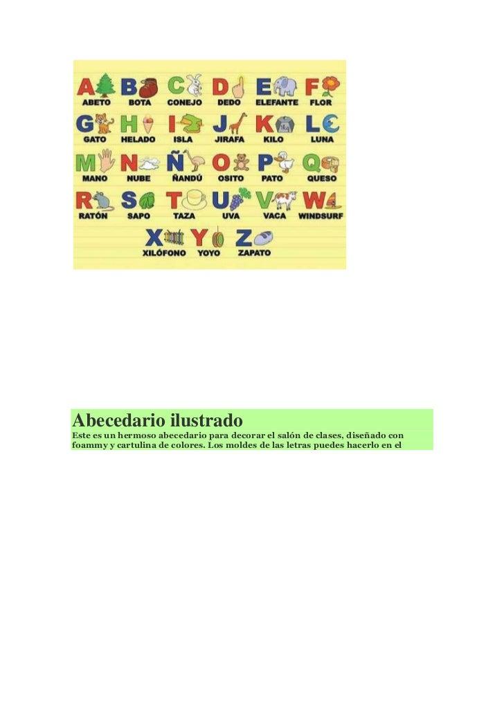 Abecedario - Como adornar una cartulina ...
