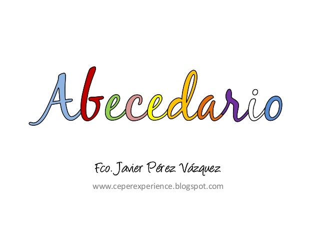 Abecedario en español (a color)