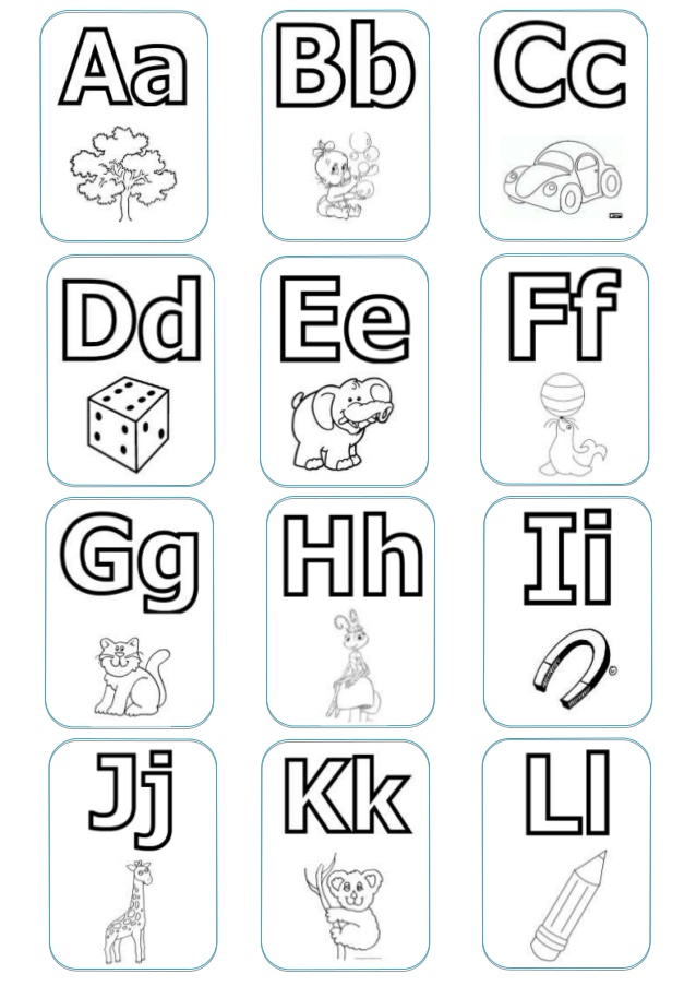 Memorama del abecedario - Imagui