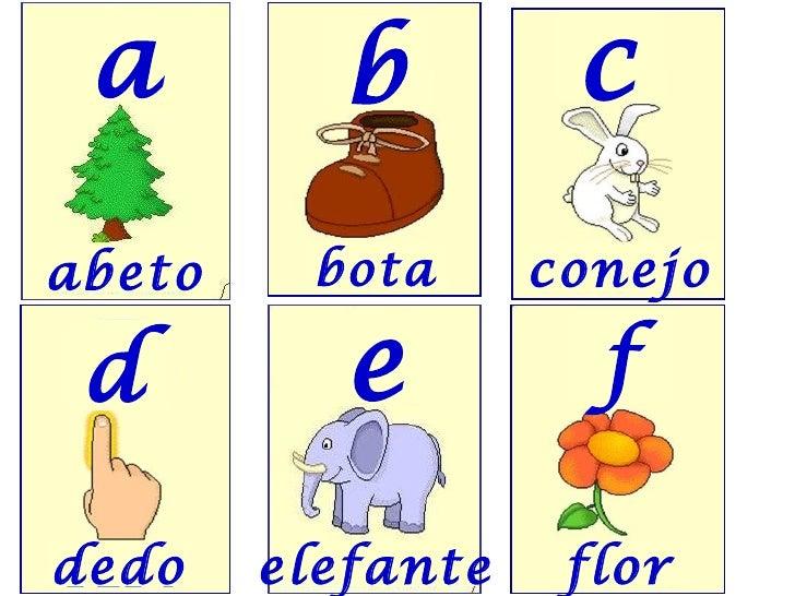 abeto bota conejo dedo elefante flor a b c d e f