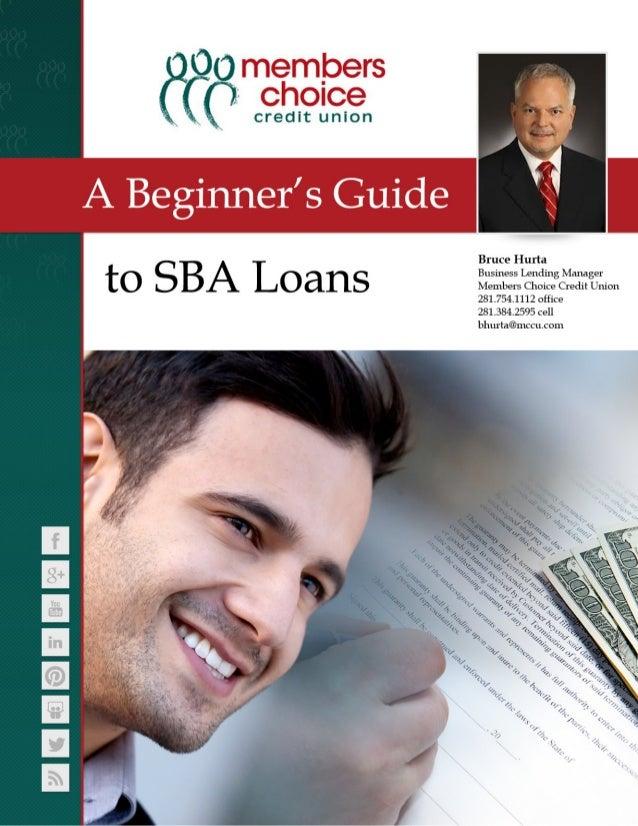 A Beginners Guide to SBA Loans eBook