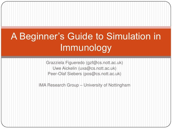 A Beginner'S Guide To Simulation In Immunology