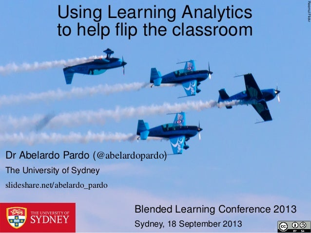 Using learning analytics to help flip the classroom