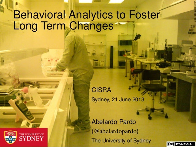 Behavioral Analytics to Foster Long Term Changes