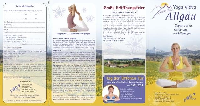 Yoga Vidya Allgaeu - Abendkurse 2013 Flyer