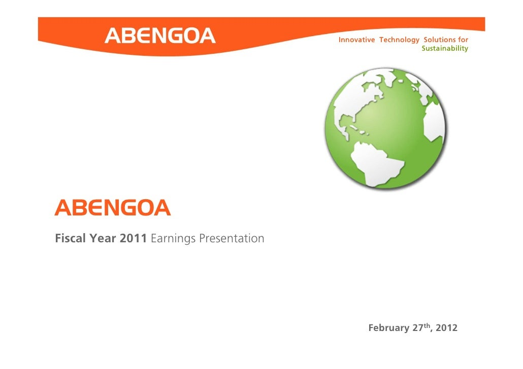 Innovative Technology Solutions for                                                               SustainabilityABENGOAFis...