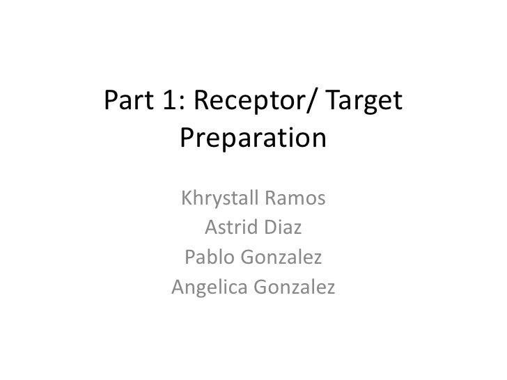 Part 1: Receptor/ Target      Preparation      Khrystall Ramos        Astrid Diaz      Pablo Gonzalez     Angelica Gonzalez