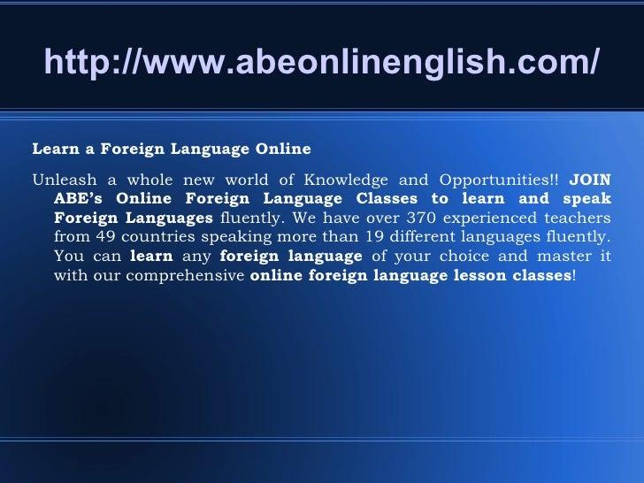 Speak a foreign language online