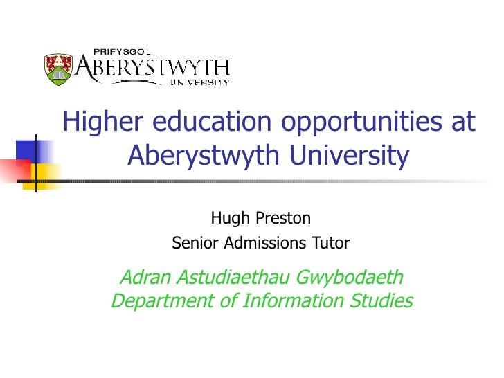 CDG Wales Managing Your Career HE opportunities at Aberystwyth Presentation