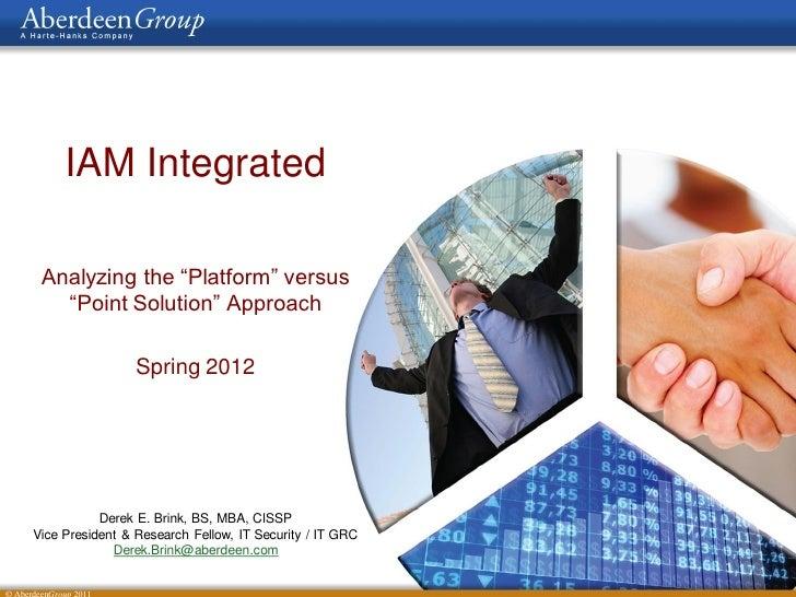 Aberdeen ppt-iam integrated-db-06 20120412
