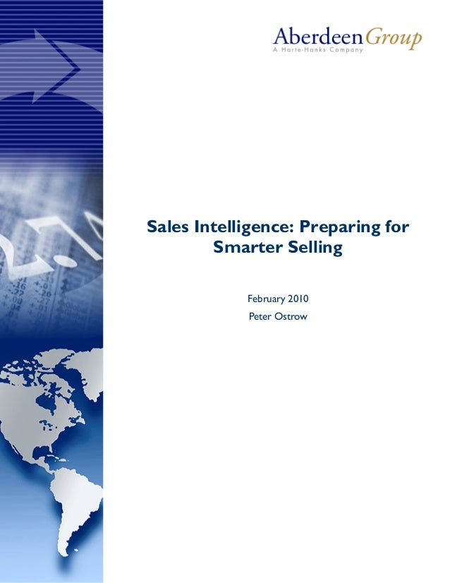 Aberdeen Group Report - Sales Intelligence: Preparing for Smarter Selling