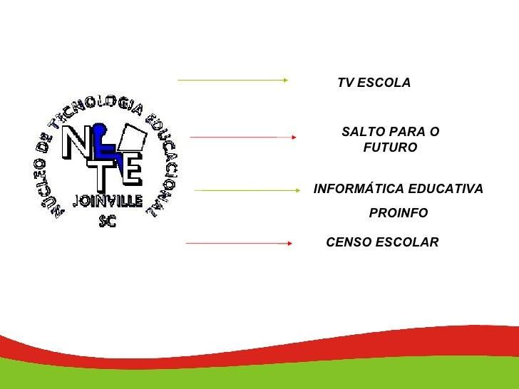 TV ESCOLA INFORMÁTICA EDUCATIVA PROINFO SALTO PARA O FUTURO CENSO ESCOLAR