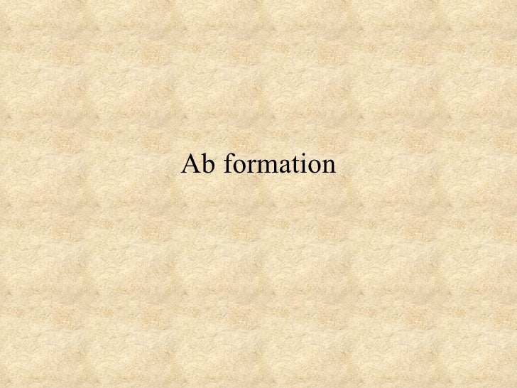 Ab Formation 2001