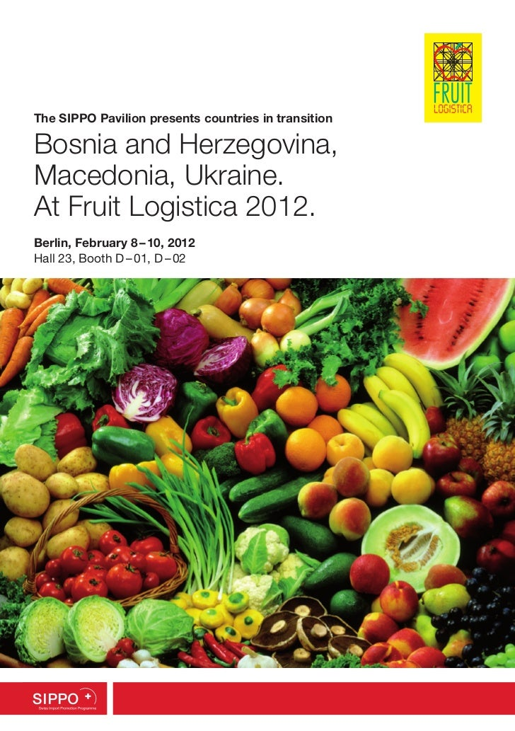The SIPPO Pavilion presents countries in transitionBosnia and Herzegovina,Macedonia, Ukraine.At Fruit Logistica 2012.Berli...
