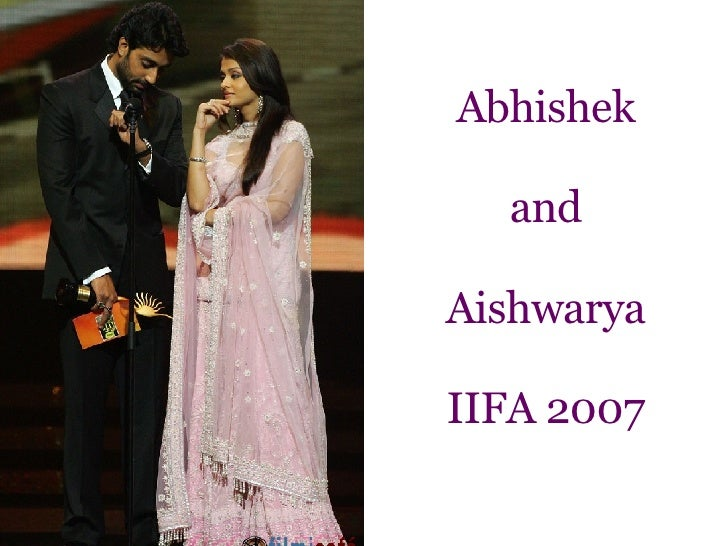 Abhishek and Aishwarya IIFA 2007