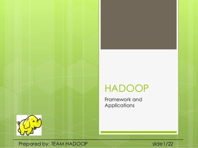 Hadoop and MapReduce