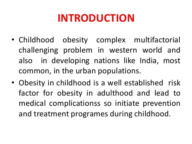 introduction of childhood obesity essay