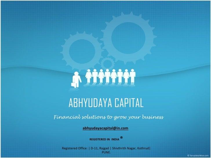 Abhyudaya Capital Corporate Presentation