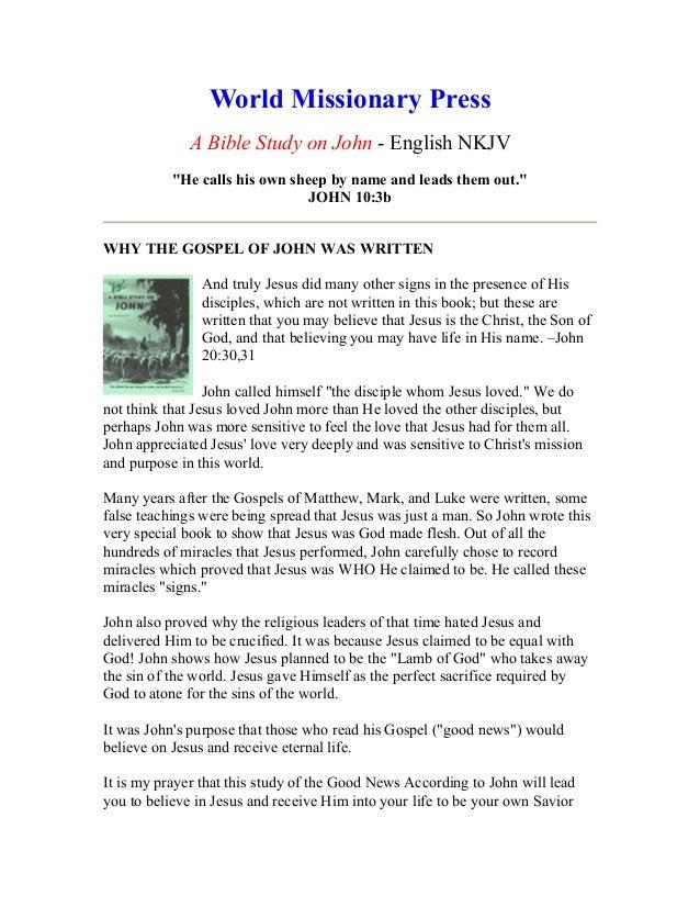 A bible study on john   english