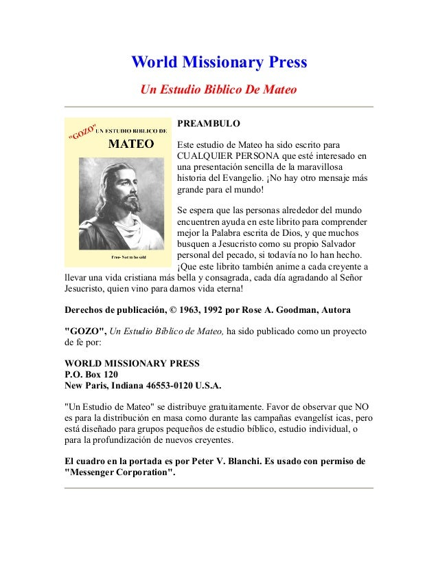 A bible study on matthew spanish