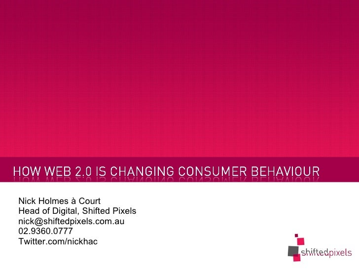 How Social Networks are changing consumer behavior
