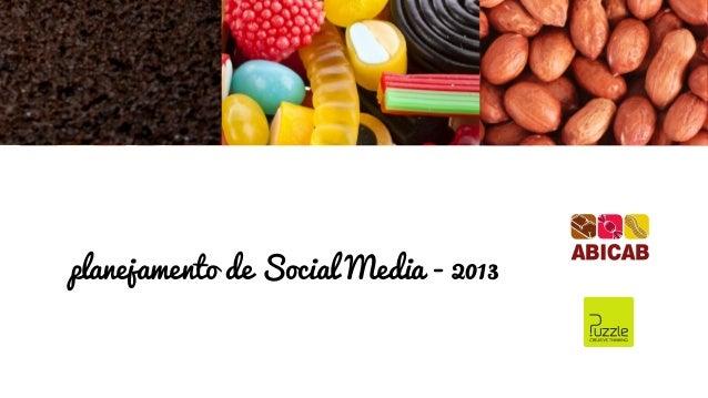 planejamento de Social Media - 2013
