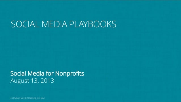 A Nonprofits guide to activating a Social Media Playbook #SM4NP