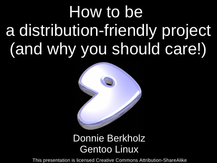 How to be a distribution-friendly project