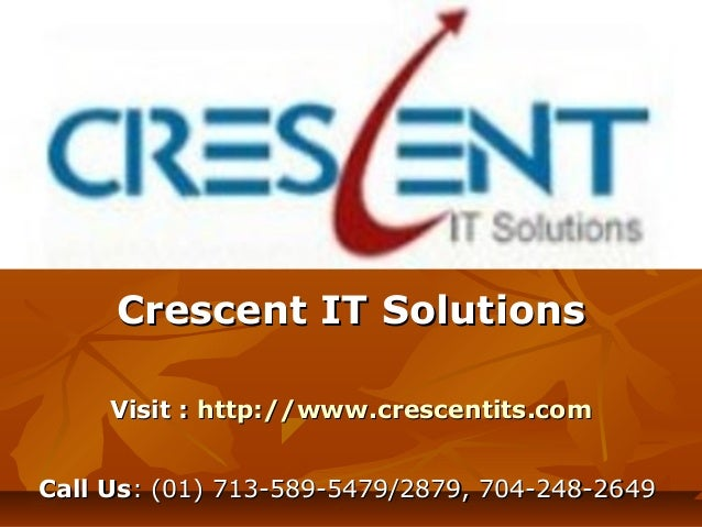 Abinitio Online Training and Placement @ Crescent IT Solutions