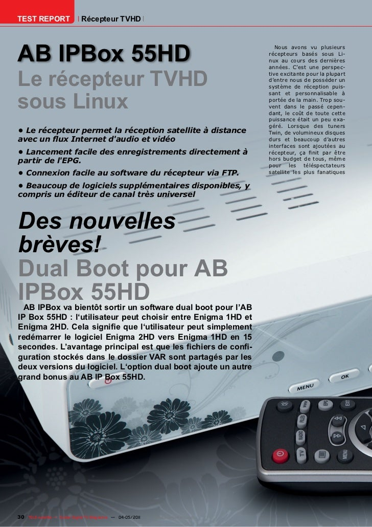 TEST REPORT                   Récepteur TVHDAB IPBox 55HD                                                                 ...